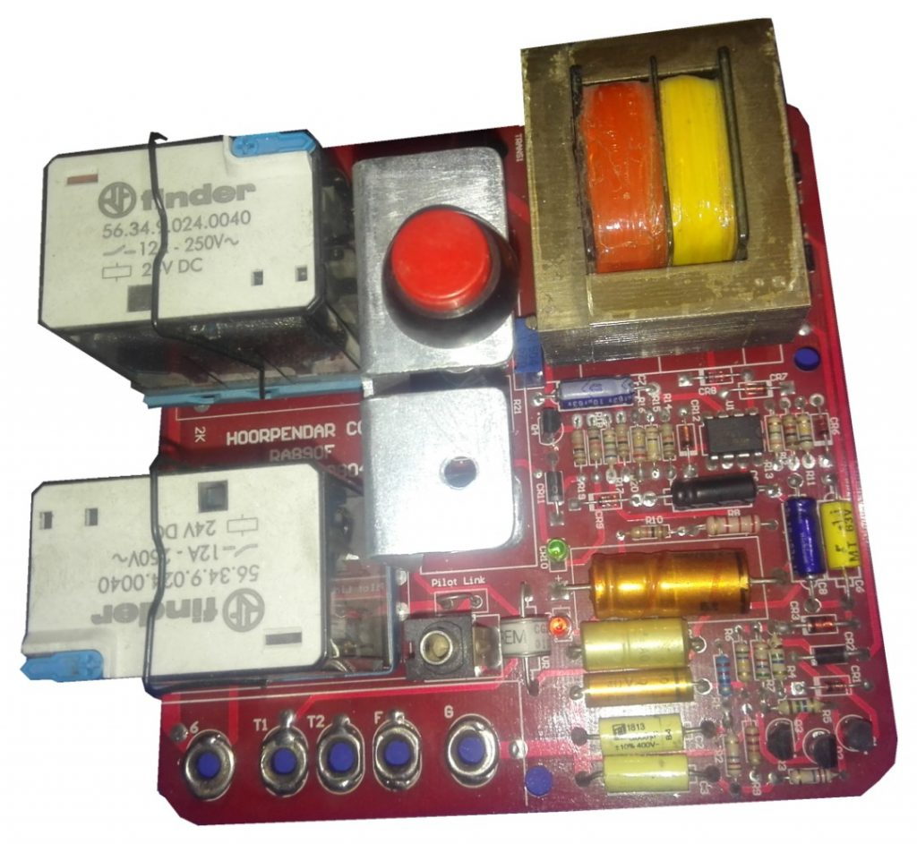 Flame detector relay card